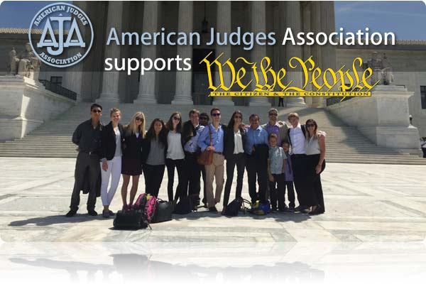 The American Judges Foundation donated $3,500 recently to support the We the People program, which teaches young people about the Constitution and American government.