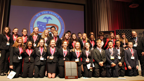 Fishers Junior High School from Fishers, Indiana, placed first in the 5th Annual We the People National Finals.