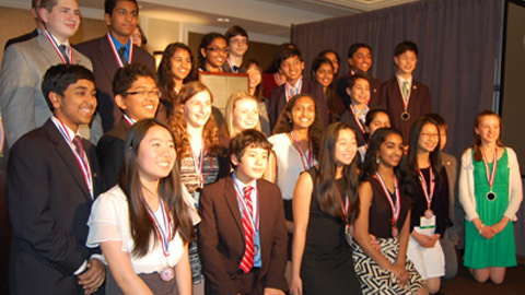 Rachel Carson Middle School placed first among middle schools in the Third Annual We the People National Invitational.